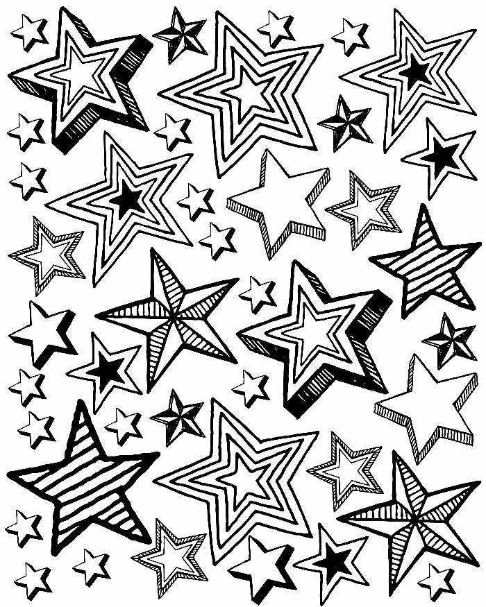 Desenho de estrelas para pintar