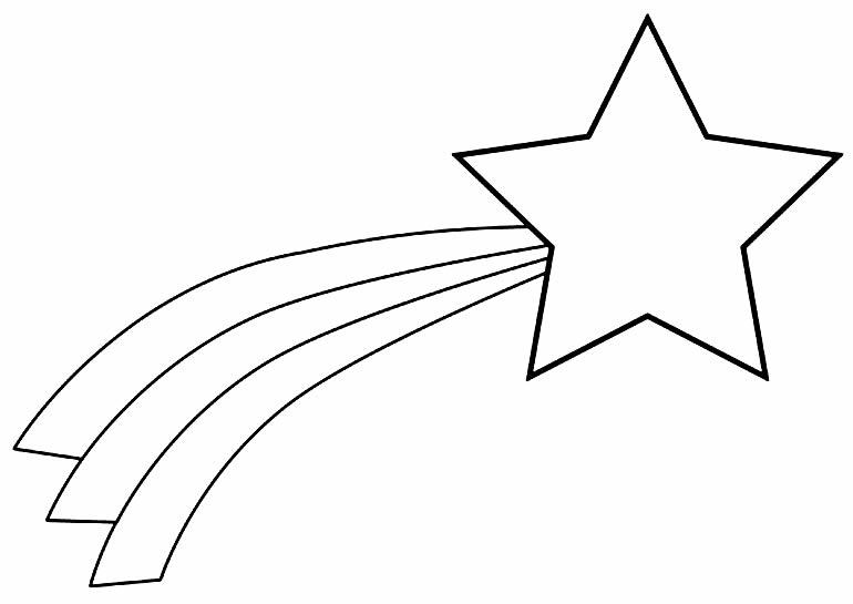 Desenho de estrela para pintar