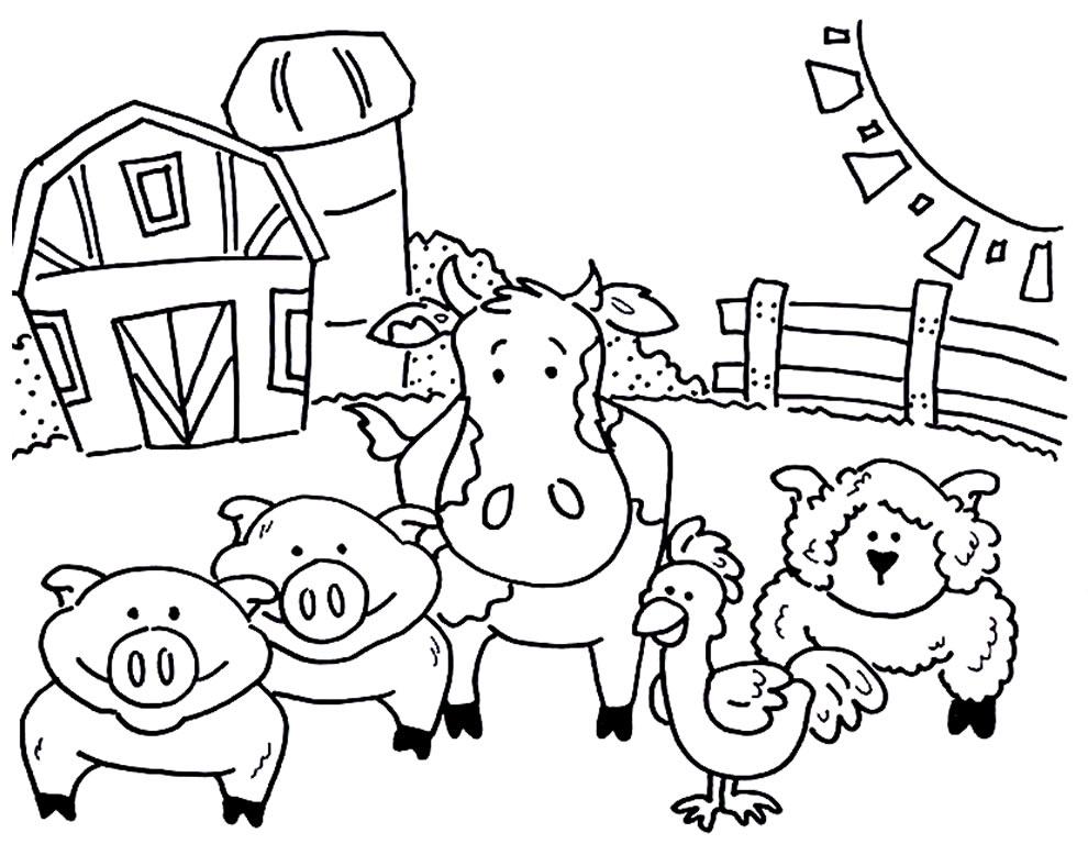 Desenhos de bichos da fazenda