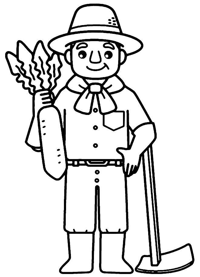 Desenho de fazenda para pintar