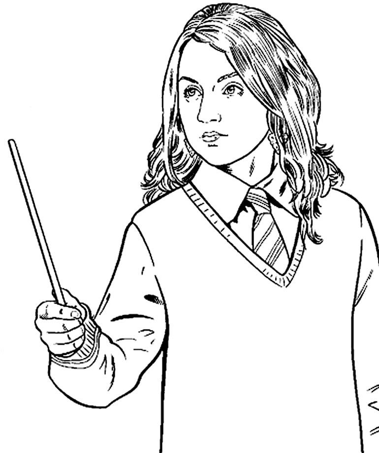 Desenho de Harry Potter para pintar