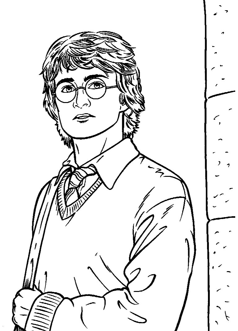 Imagem de Harry Potter para pintar