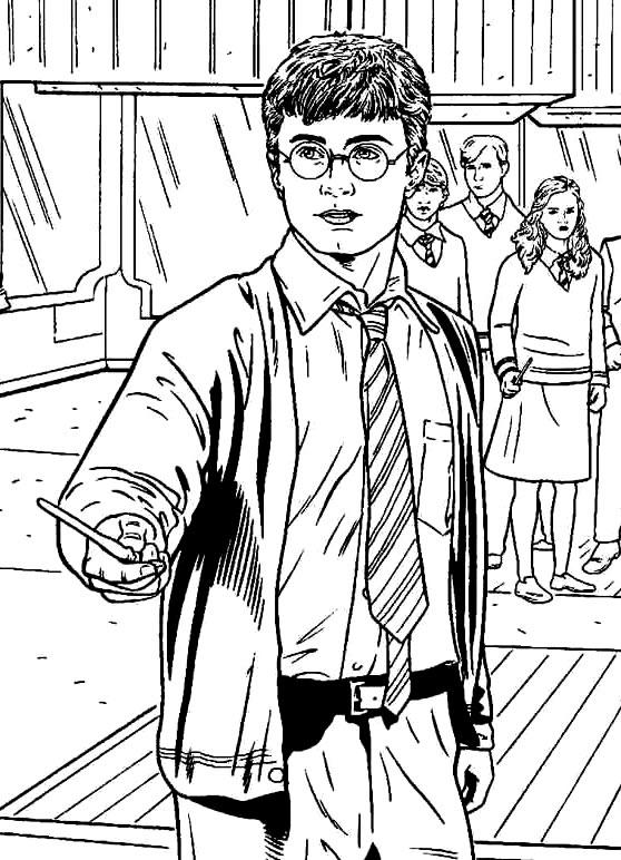 Imagem de Harry Potter para colorir