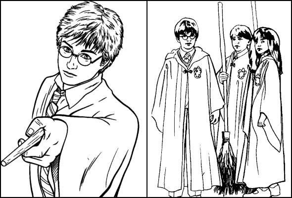 Desenhos de Harry Potter para colorir