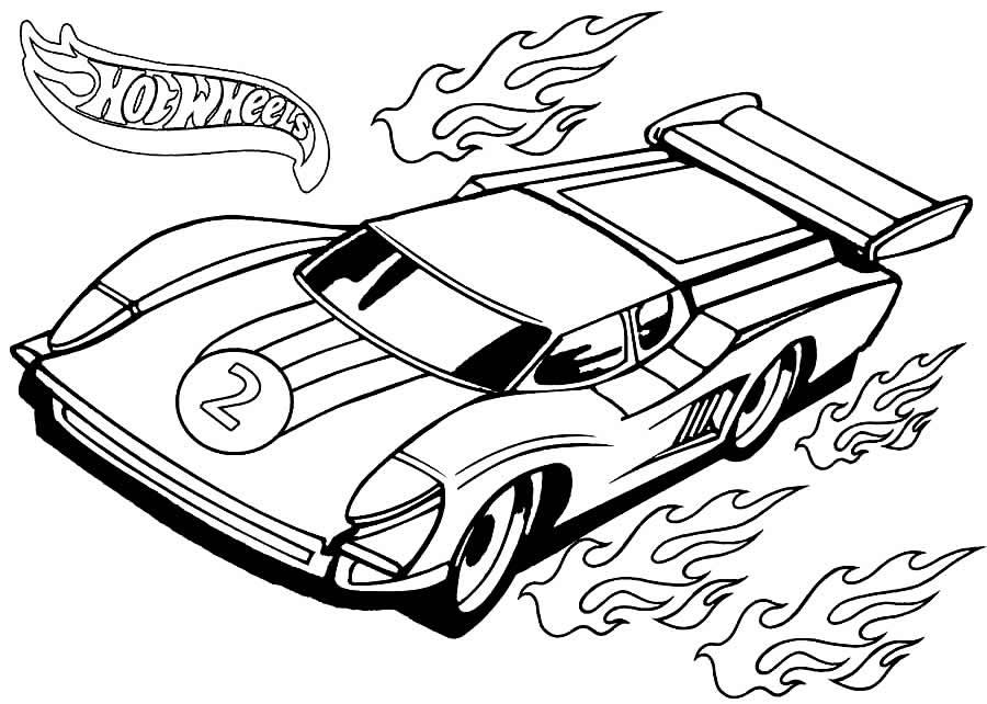 Desenho de carrinho do Hot Wheels