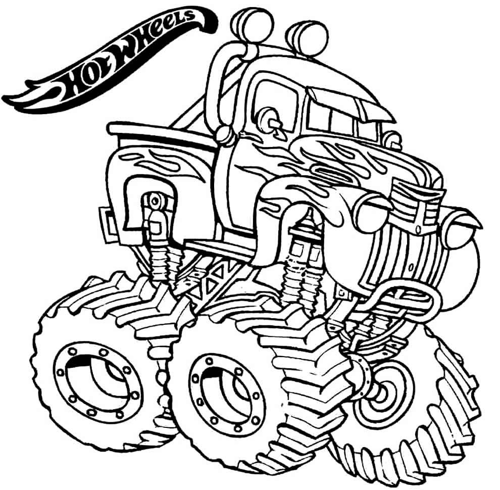 Desenho de Hot Wheels para pintar