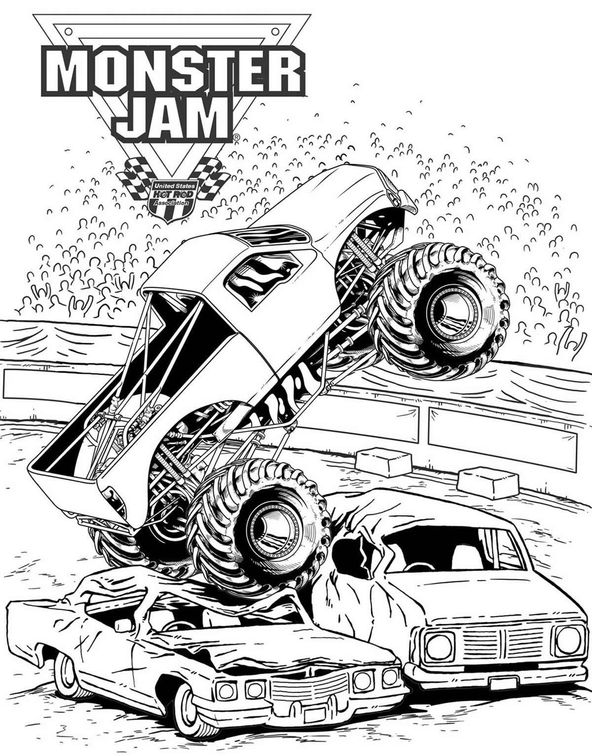 Desenho de Hot Wheels para colorir