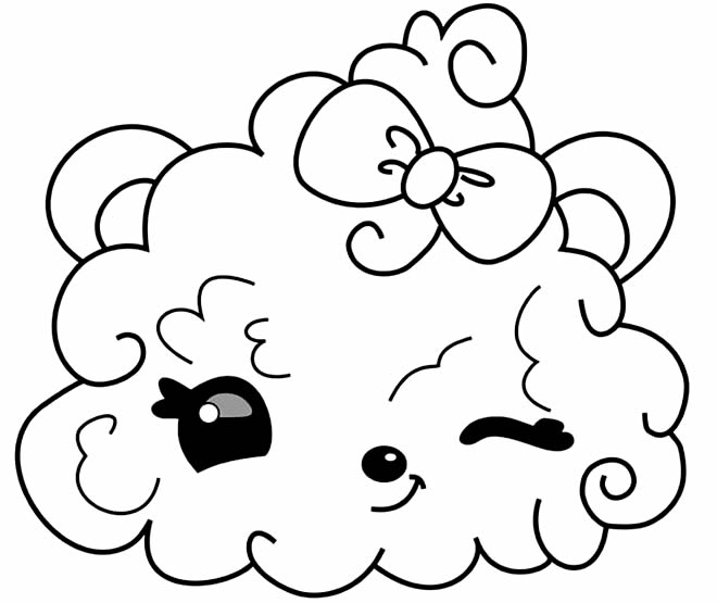 Desenho de Kawaii para pintar