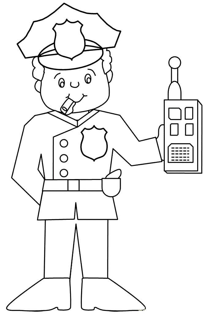 Imagem de policial para pintar