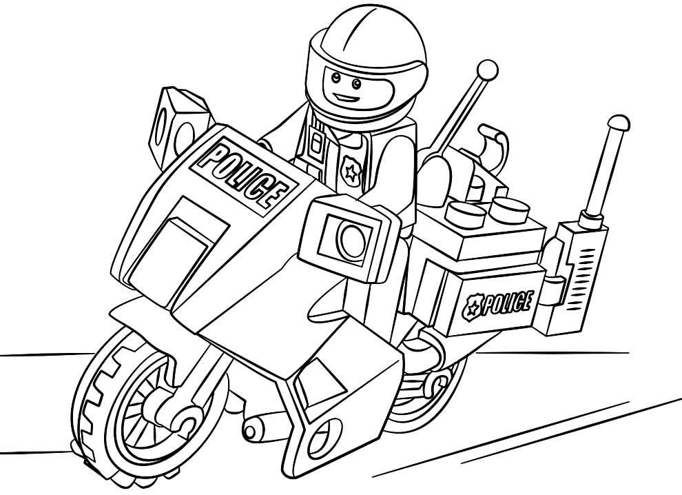 Desenho de policial para colorir