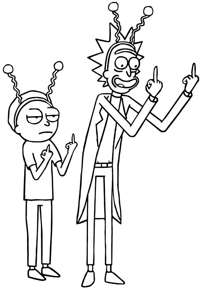 Imagem de Rick e Morty para pintar