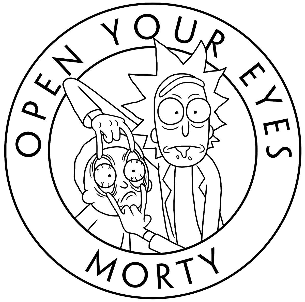 Imagem de Rick e Morty para colorir