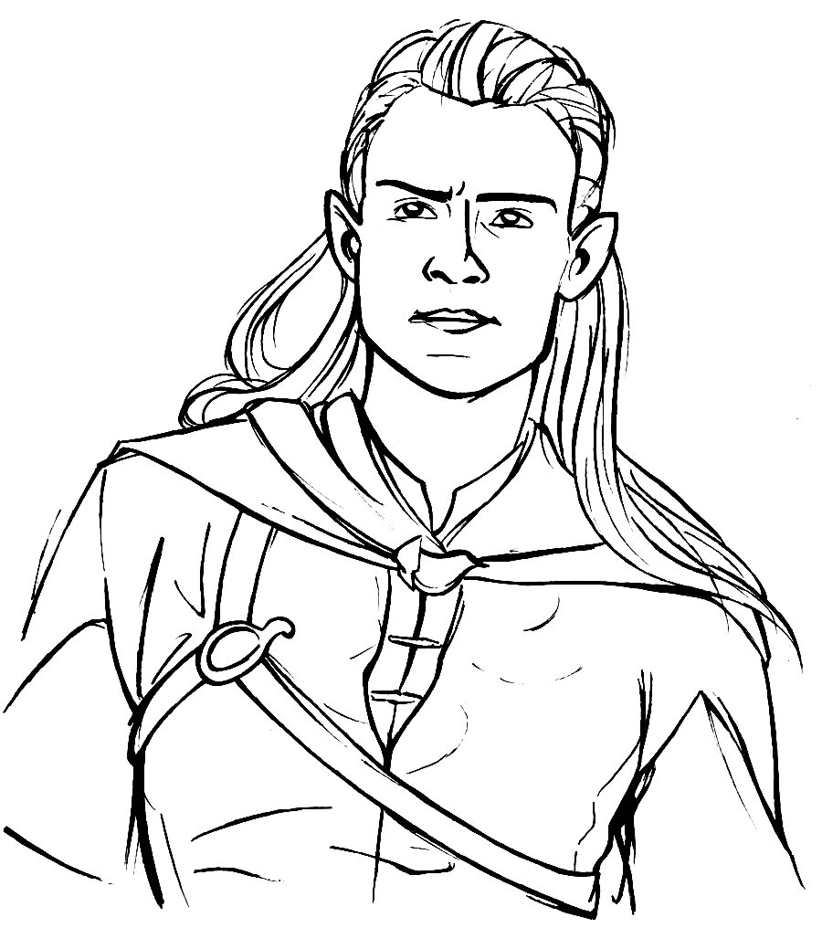 Desenho de Legolas