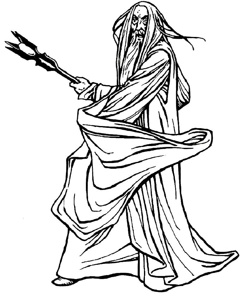 Desenho de Senhor dos Anéis para colorir