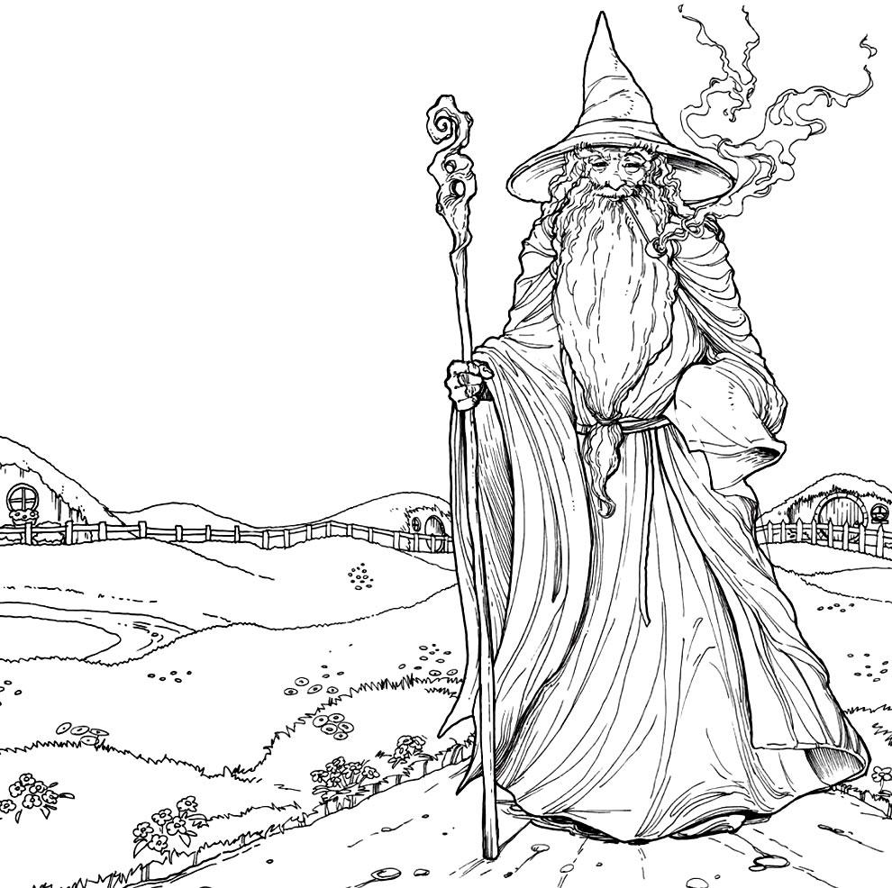 Desenho de Gandalf