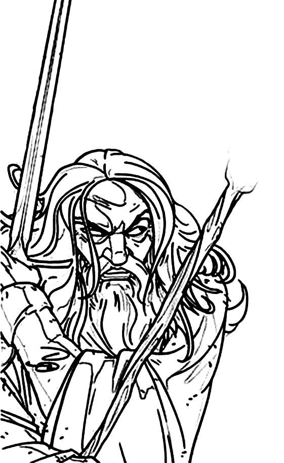 Desenho de Senhor dos Anéis