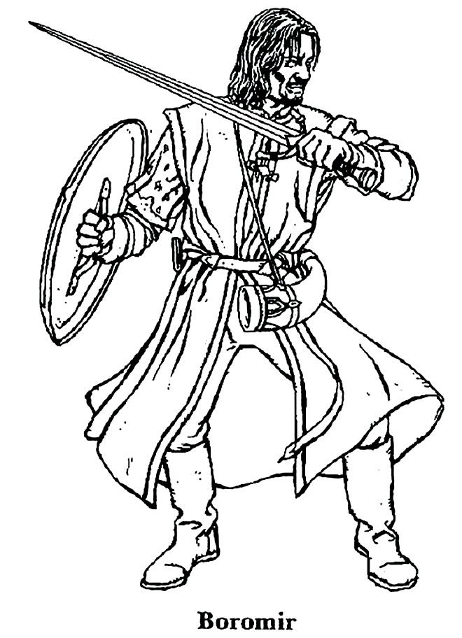 Imagem de Senhor dos Anéis para colorir