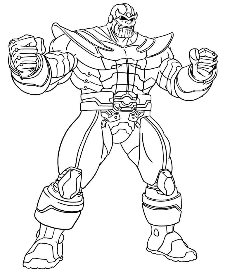 Imagem de Thanos para colorir