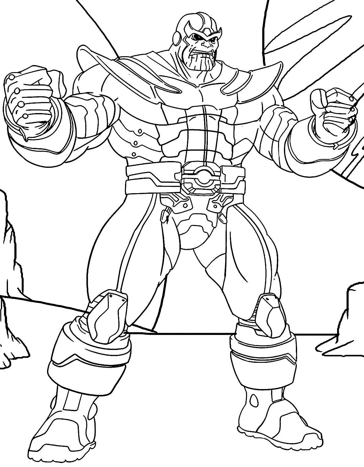 Desenho de Thanos para colorir