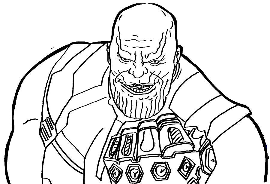 Desenho de Thanos para pintar