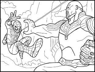 Desenhos de Thanos para colorir