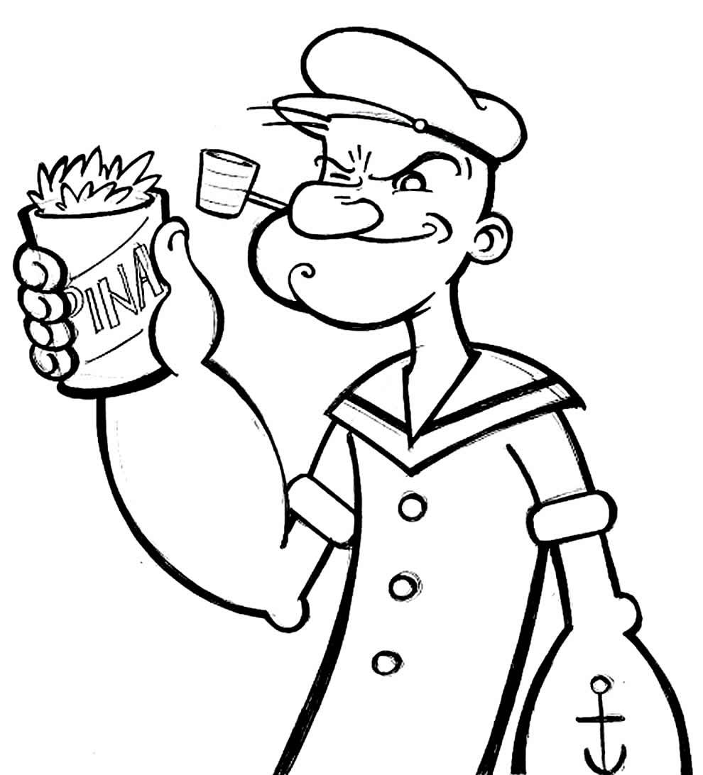 Imagem de Popeye para colorir