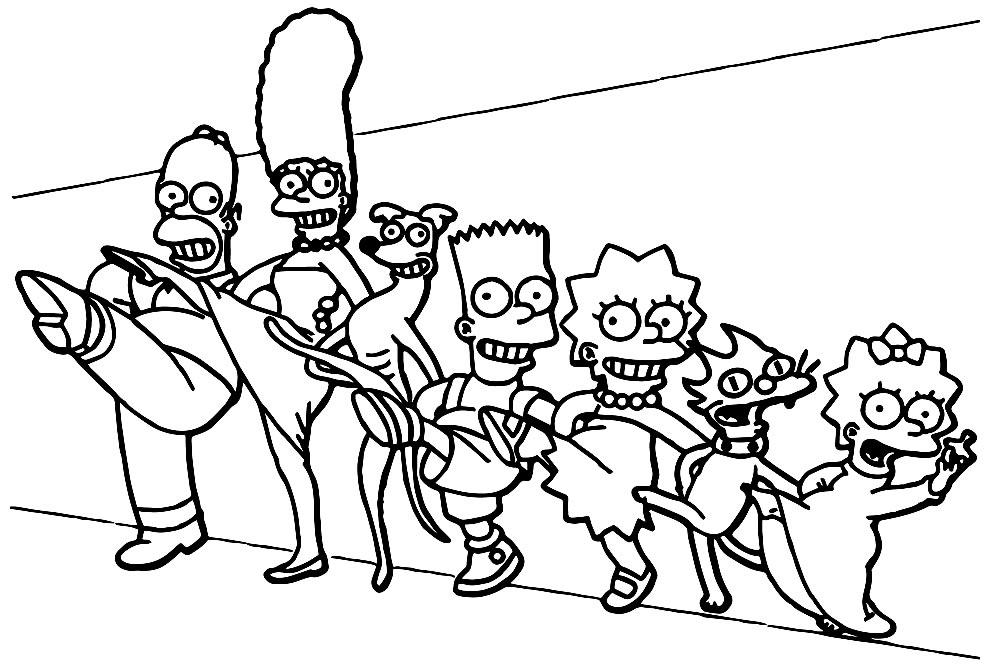 Imagem para pintar dos Simpsons