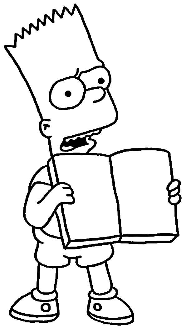 Desenho para pintar dos Simpsons