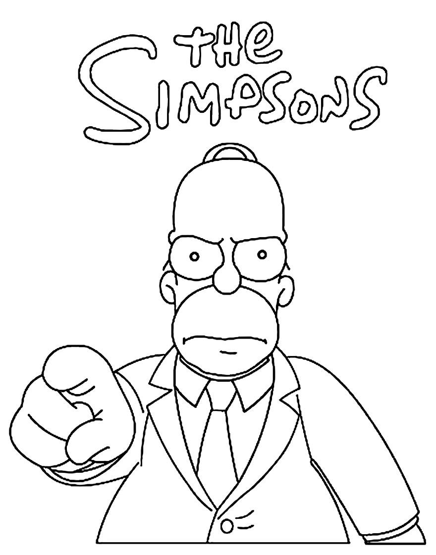 Desenho para colorir dos Simpsons