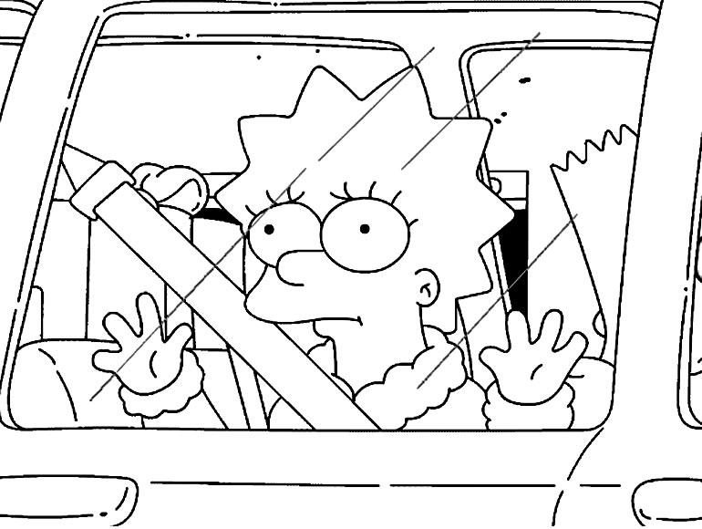Imagem para colorir dos Simpsons