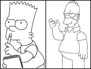 Desenhos para colorir dos Simpsons