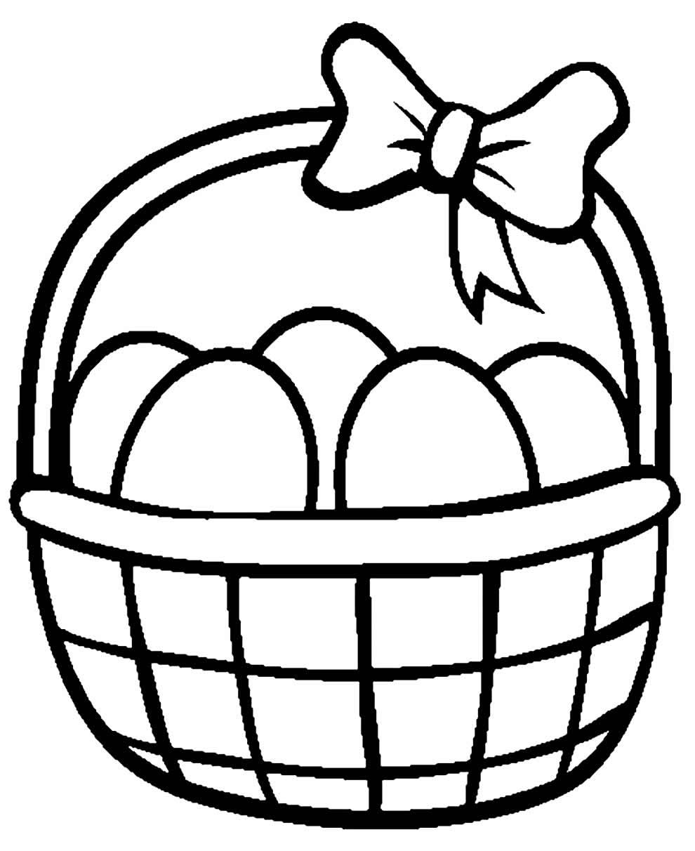 Desenhos lindos de cestas de Páscoa