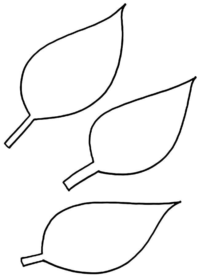 Moldes de folhas para imprimir
