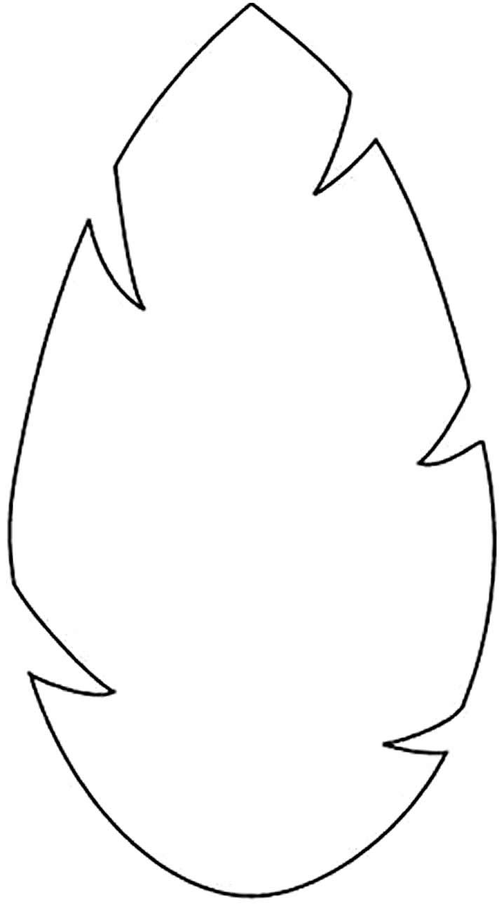 Molde grande de folha