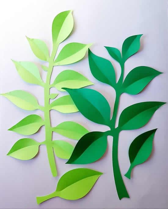 Enfeite com folhas de papel