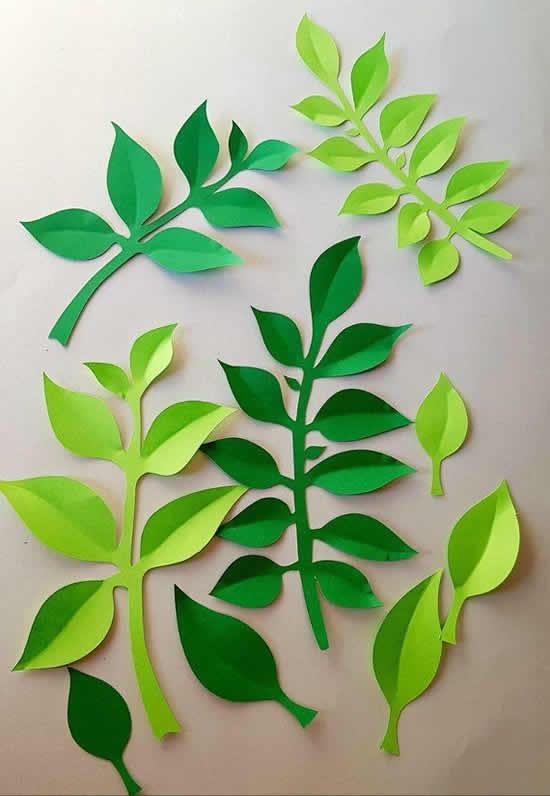 Folhas de papel criativas