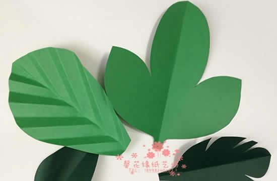 Folhas de papel para decoração de festa
