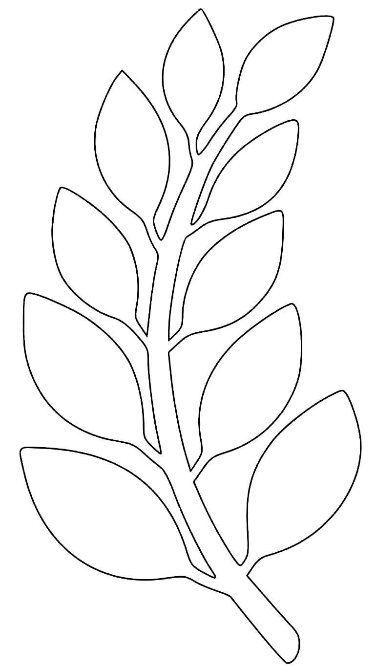 Molde de folhas para enfeite