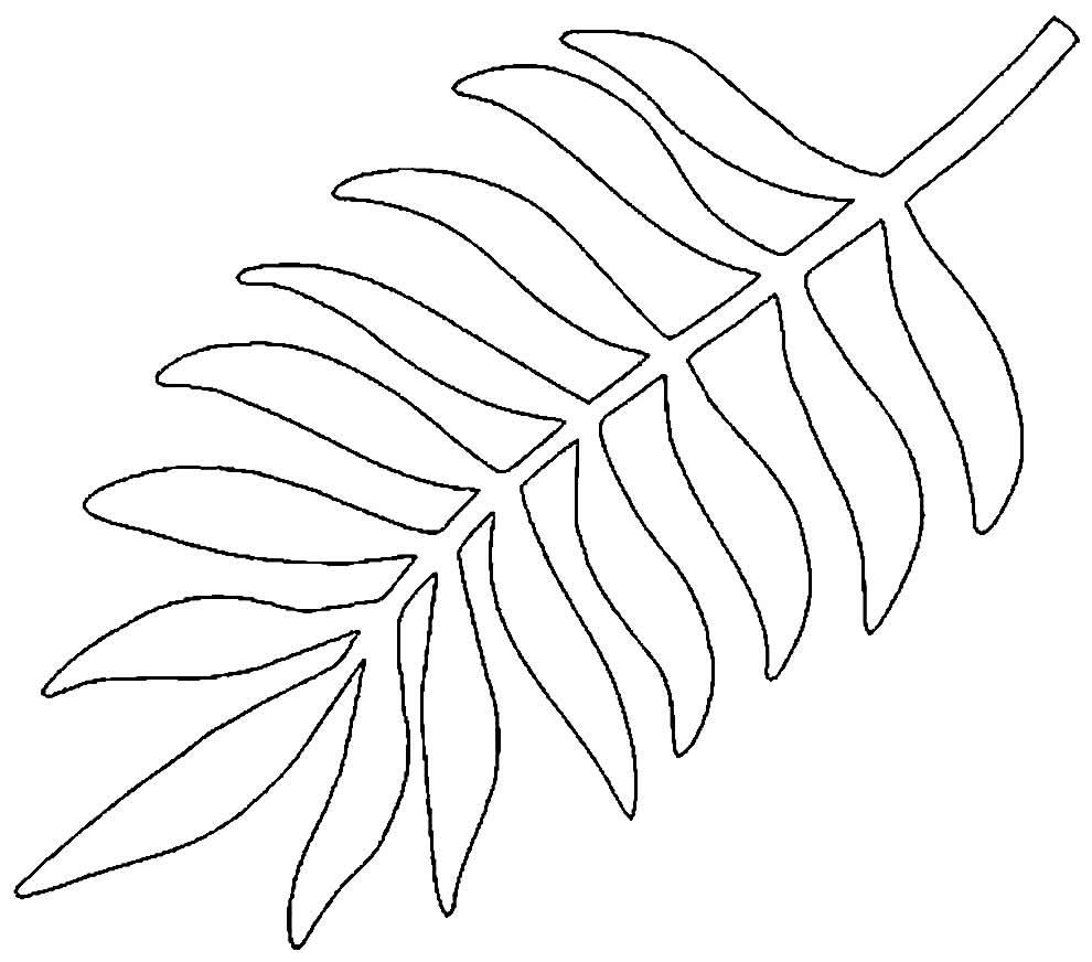 Molde de folhas para decoração