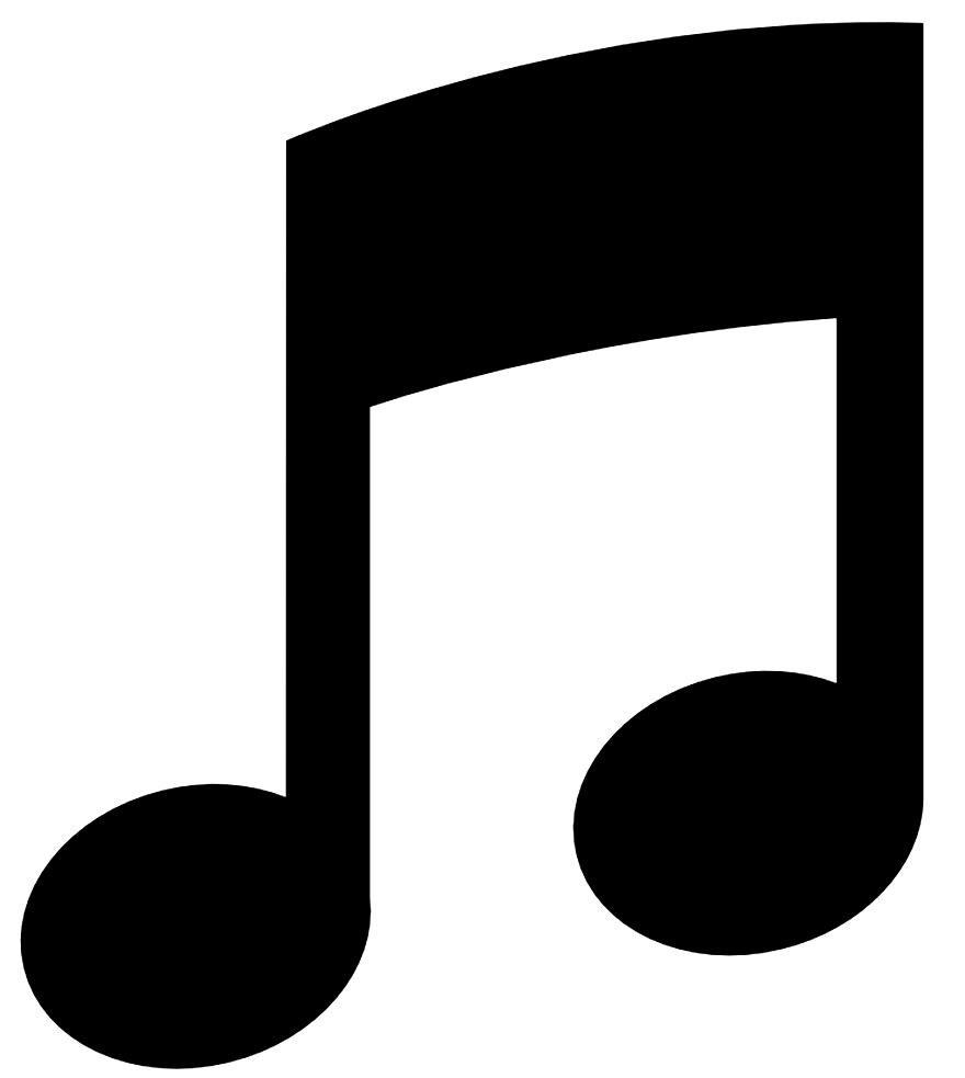 Molde simples de nota musical