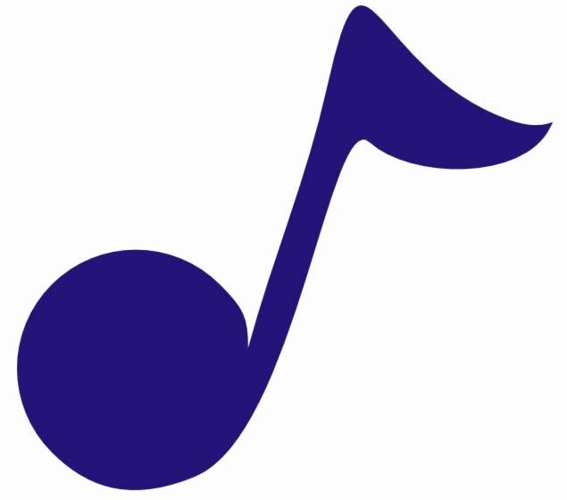 Molde colorido de nota musical
