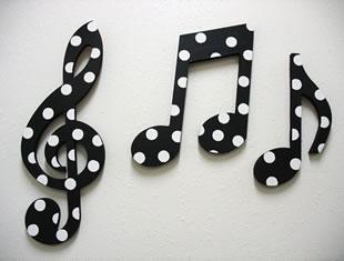 Moldes de notas musicais