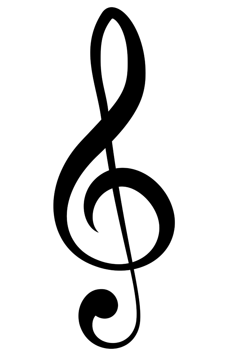 Lindo molde de nota musical