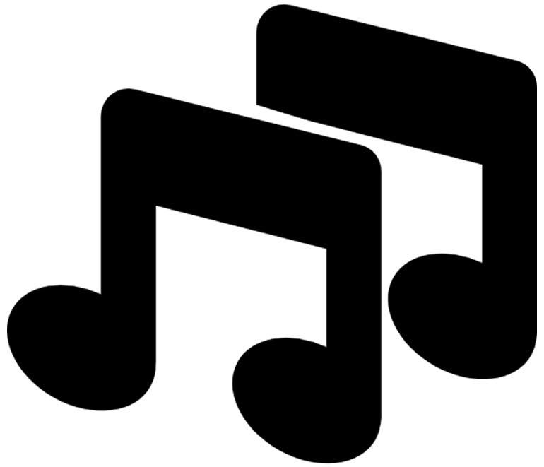 Molde de notas musicais