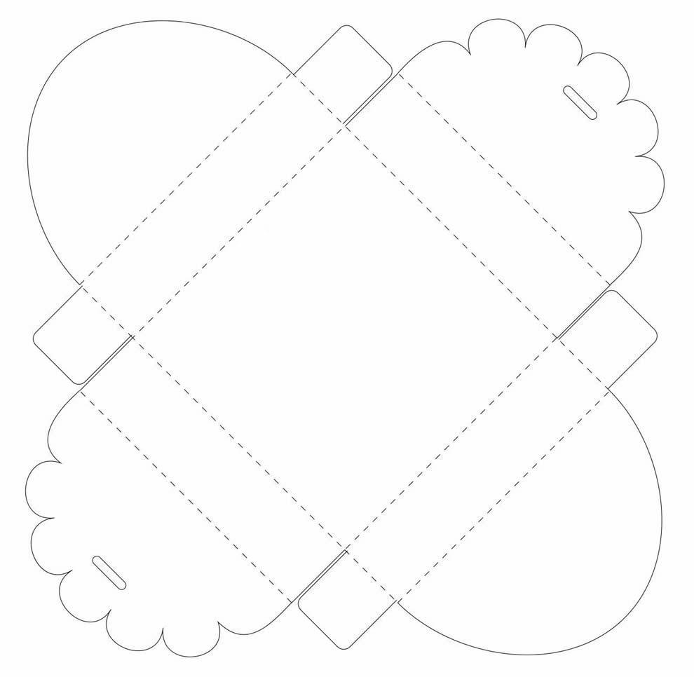 Molde para lembrancinha de papel