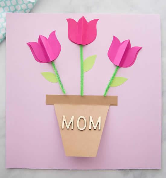 Cartão lindo para o Dia das Mães