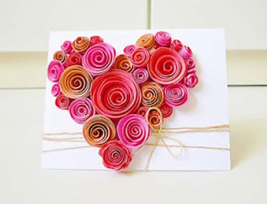 Cartão de papel com coração
