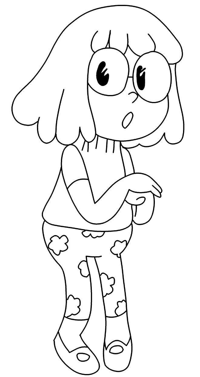 Desenho para colorir de Clarêncio o Otimista