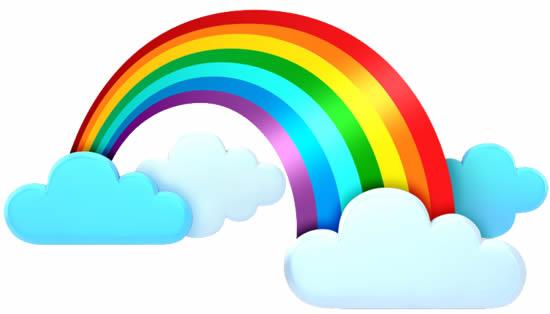 Desenho colorido de Arco-íris
