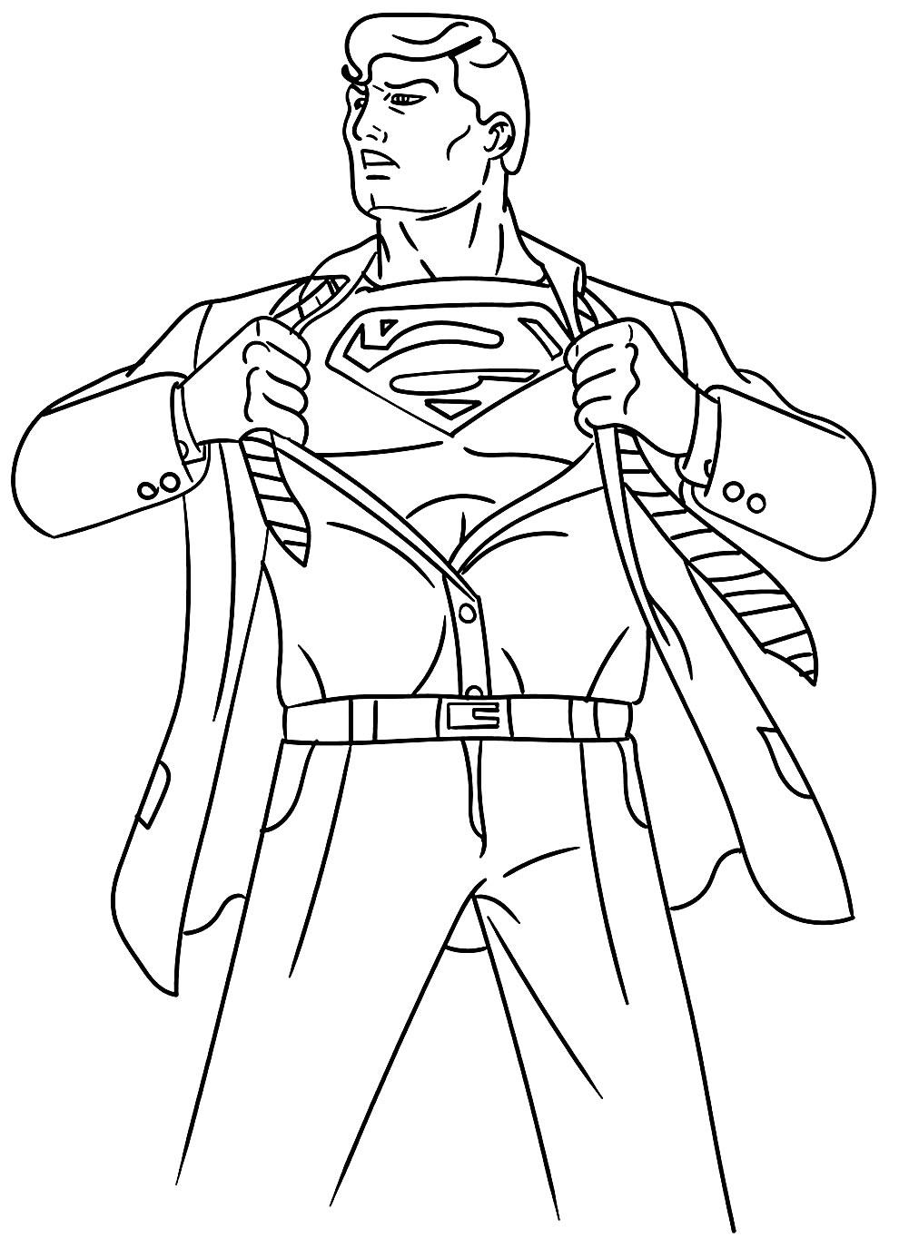 Molde de Super Homem para colorir